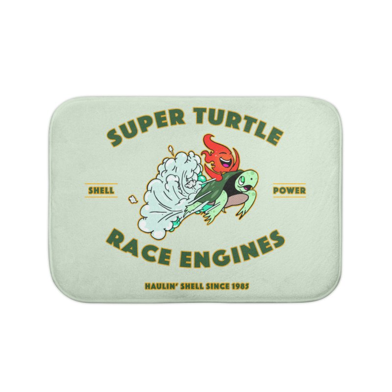 Super Turtle Engine Home Bath Mat by Norman Wilkerson Designs