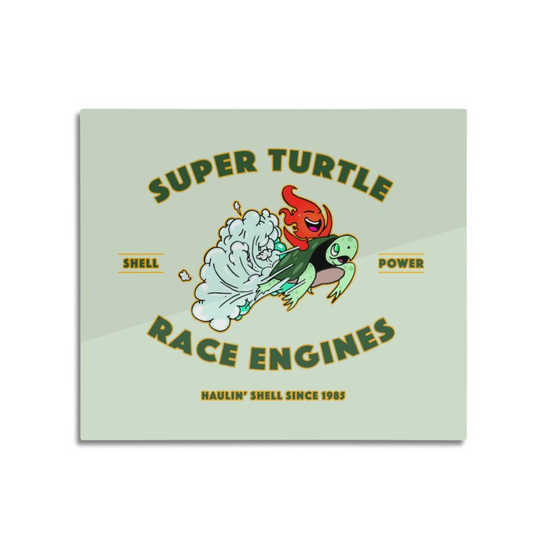 Super Turtle Engine Home Mounted Aluminum Print by Norman Wilkerson Designs