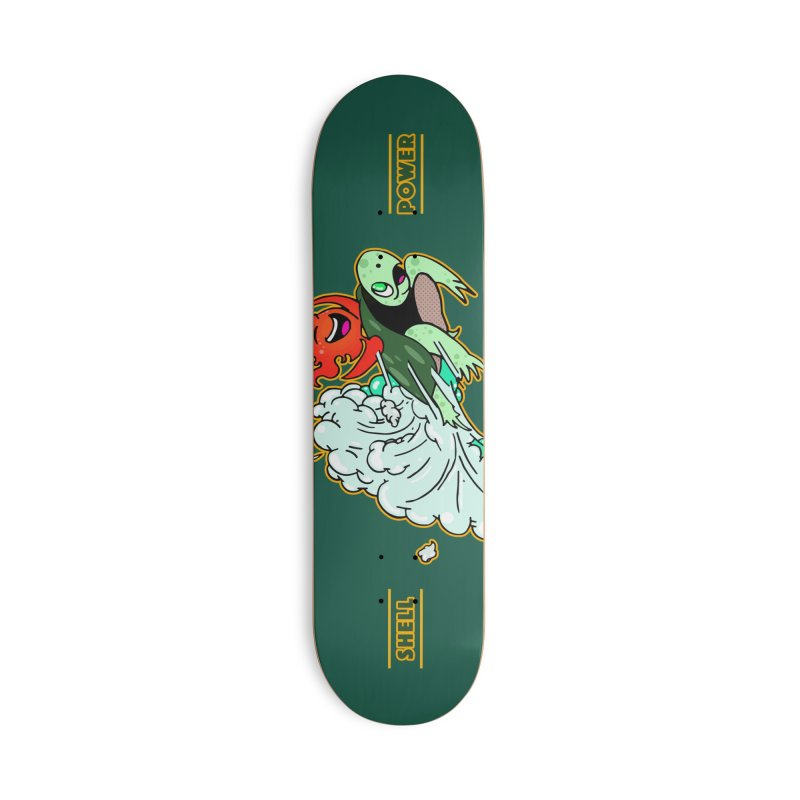 Super Turtle Engine Accessories Deck Only Skateboard by Norman Wilkerson Designs