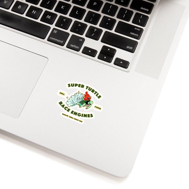 Super Turtle Engine Accessories Sticker by Norman Wilkerson Designs