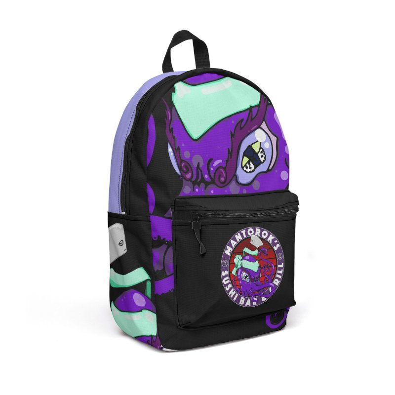 Eternal Sushi King Accessories Backpack Bag by Norman Wilkerson Designs