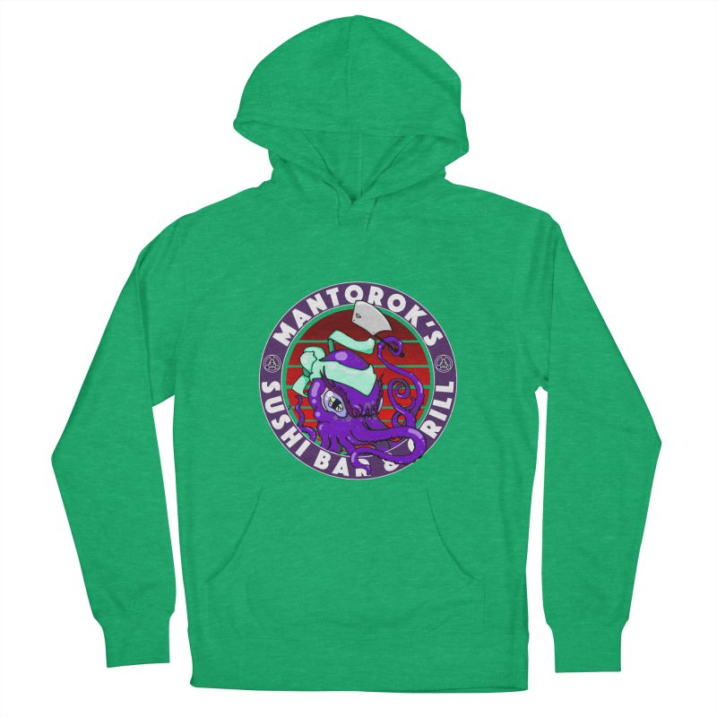 Eternal Sushi King Men's French Terry Pullover Hoody by Norman Wilkerson Designs