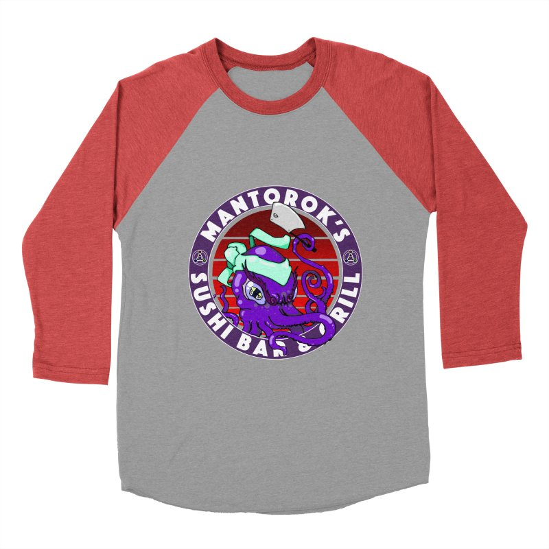 Eternal Sushi King Women's Baseball Triblend Longsleeve T-Shirt by Norman Wilkerson Designs