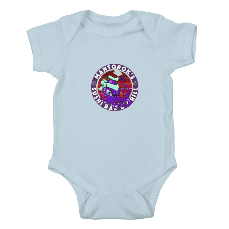 Eternal Sushi King Kids Baby Bodysuit by Norman Wilkerson Designs