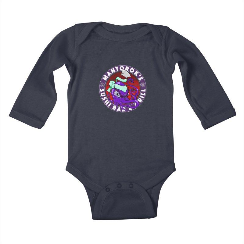 Eternal Sushi King Kids Baby Longsleeve Bodysuit by Norman Wilkerson Designs