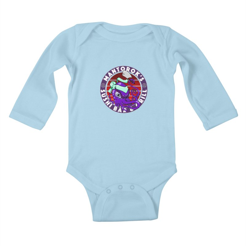 Eternal Sushi King Kids Baby Longsleeve Bodysuit by Norman Wilkerson Designs