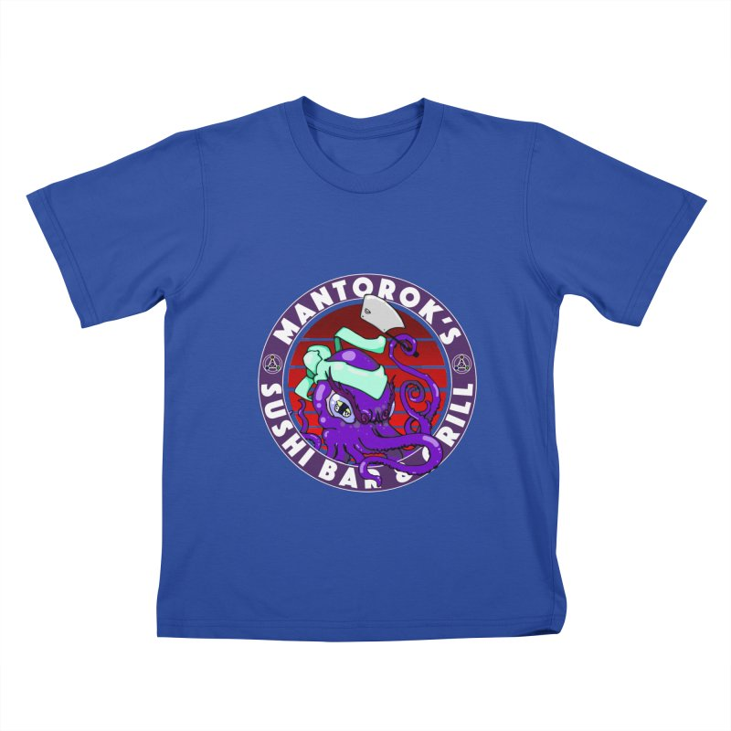 Eternal Sushi King Kids T-Shirt by Norman Wilkerson Designs