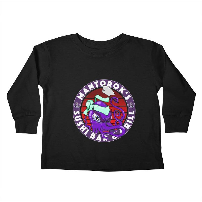 Eternal Sushi King Kids Toddler Longsleeve T-Shirt by Norman Wilkerson Designs