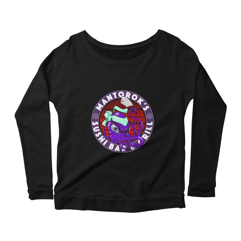 Eternal Sushi King Women's Scoop Neck Longsleeve T-Shirt by Norman Wilkerson Designs