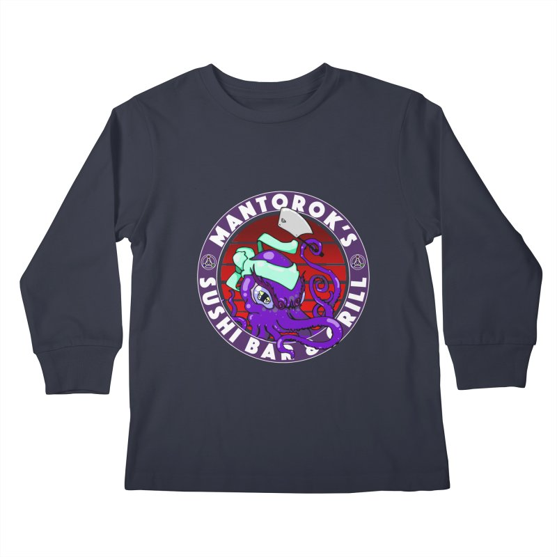 Eternal Sushi King Kids Longsleeve T-Shirt by Norman Wilkerson Designs