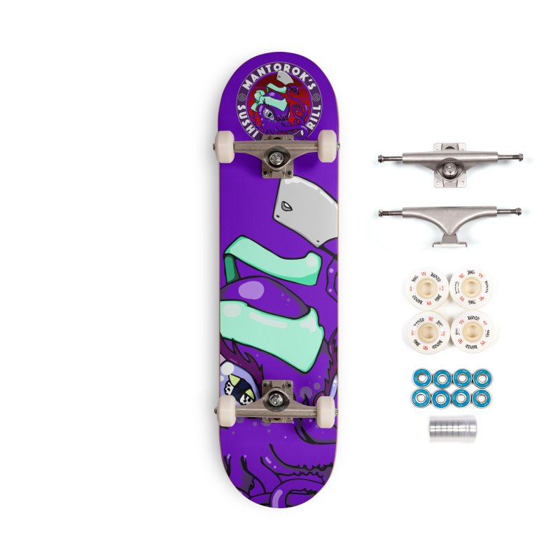 Eternal Sushi King Accessories Complete - Premium Skateboard by Norman Wilkerson Designs