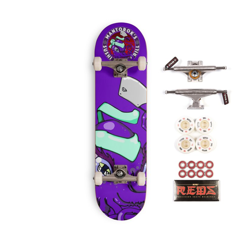 Eternal Sushi King Accessories Complete - Pro Skateboard by Norman Wilkerson Designs