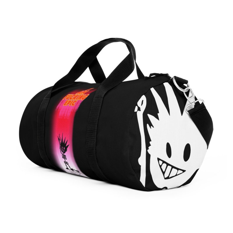 I am Epic Accessories Duffel Bag Bag by Norman Wilkerson Designs