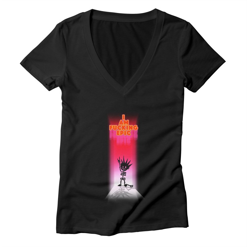 I am Epic Women's Deep V-Neck V-Neck by Norman Wilkerson Designs
