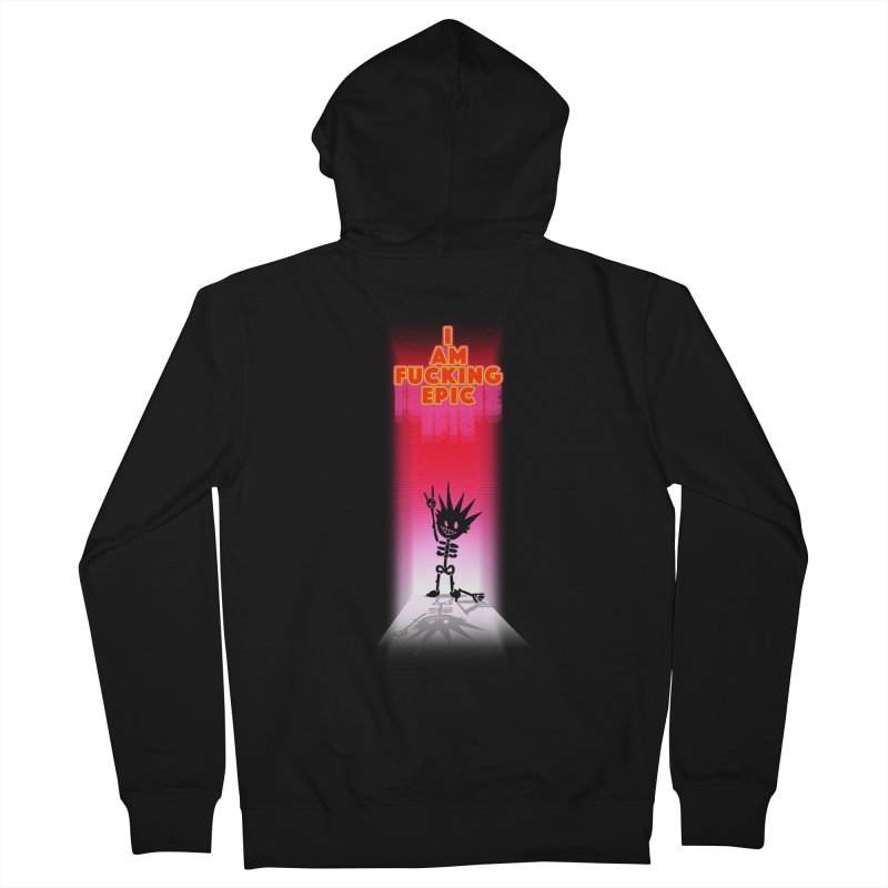 I am Epic Men's French Terry Zip-Up Hoody by Norman Wilkerson Designs