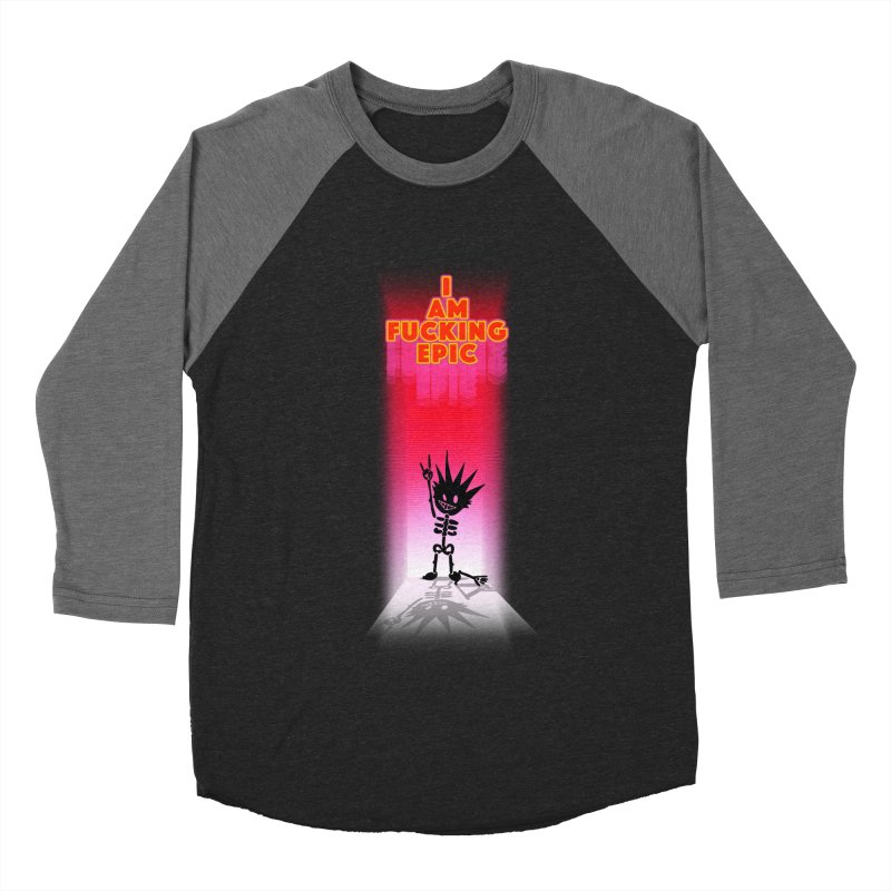 I am Epic Women's Baseball Triblend Longsleeve T-Shirt by Norman Wilkerson Designs