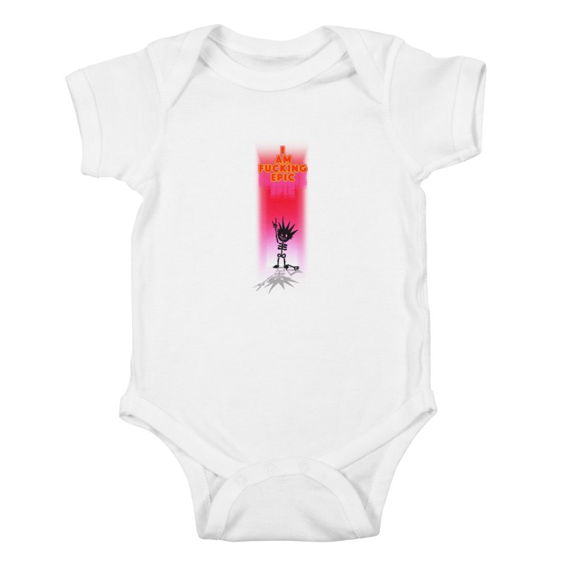 I am Epic Kids Baby Bodysuit by Norman Wilkerson Designs