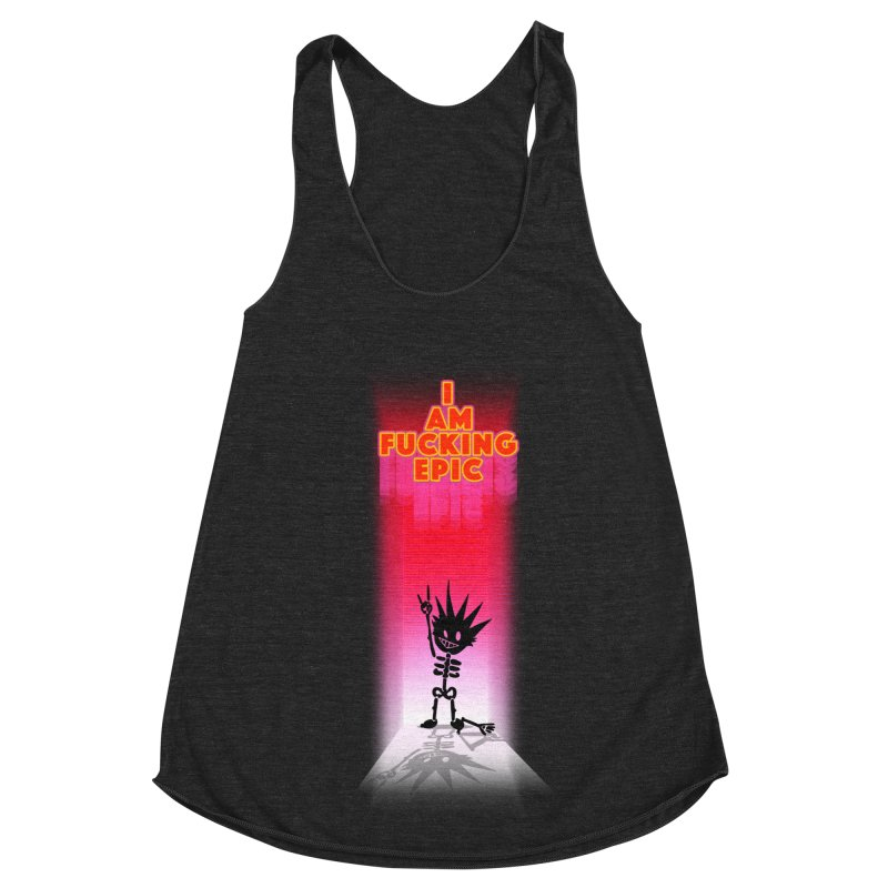 I am Epic Women's Racerback Triblend Tank by Norman Wilkerson Designs