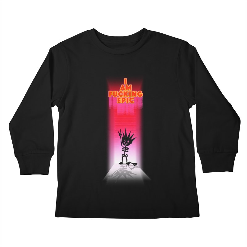 I am Epic Kids Longsleeve T-Shirt by Norman Wilkerson Designs