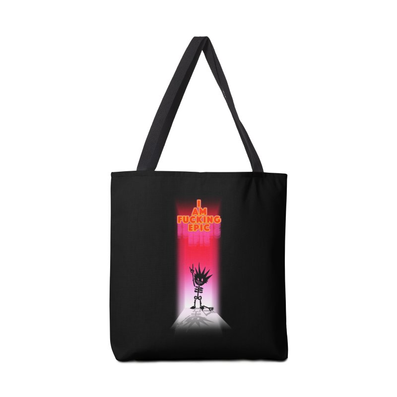 I am Epic Accessories Tote Bag Bag by Norman Wilkerson Designs