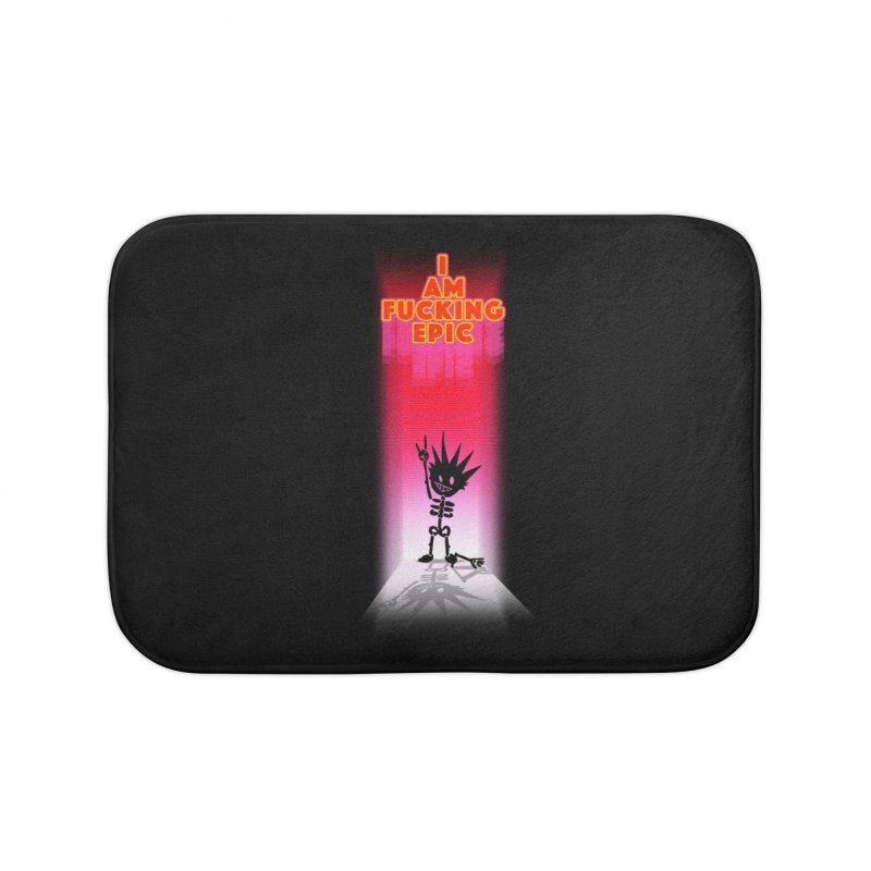 I am Epic Home Bath Mat by Norman Wilkerson Designs