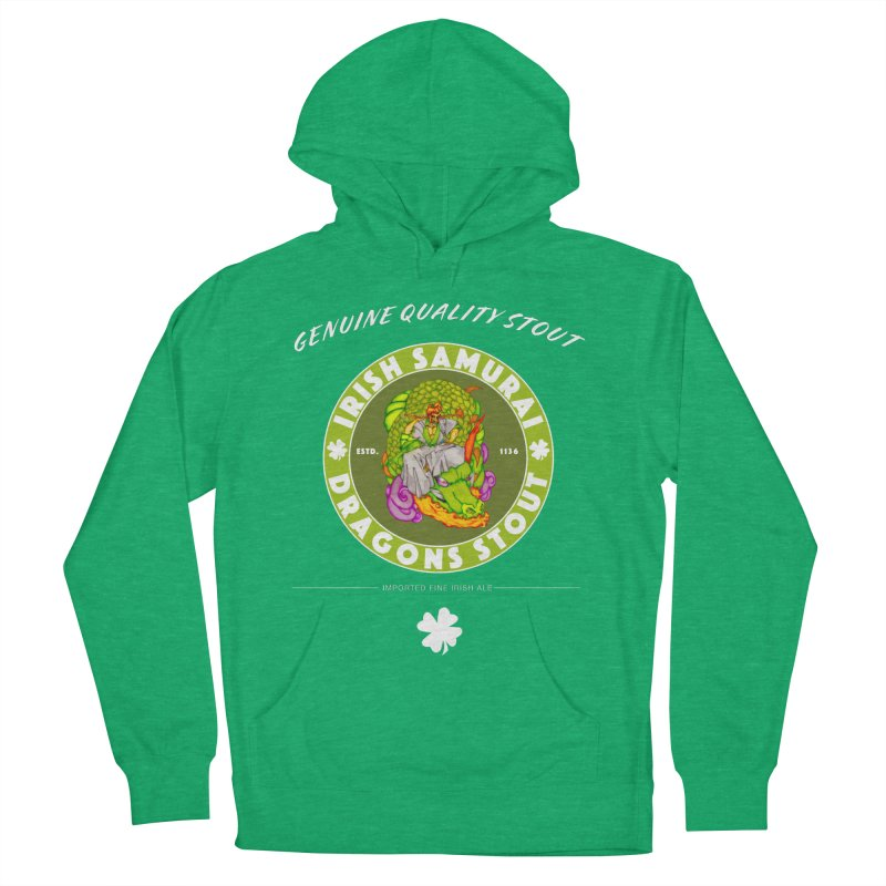 Irish Samurai Men's French Terry Pullover Hoody by Norman Wilkerson Designs