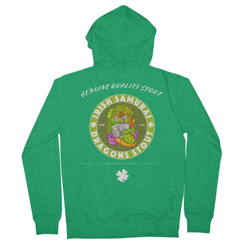 Irish Samurai Women's French Terry Zip-Up Hoody by Norman Wilkerson Designs