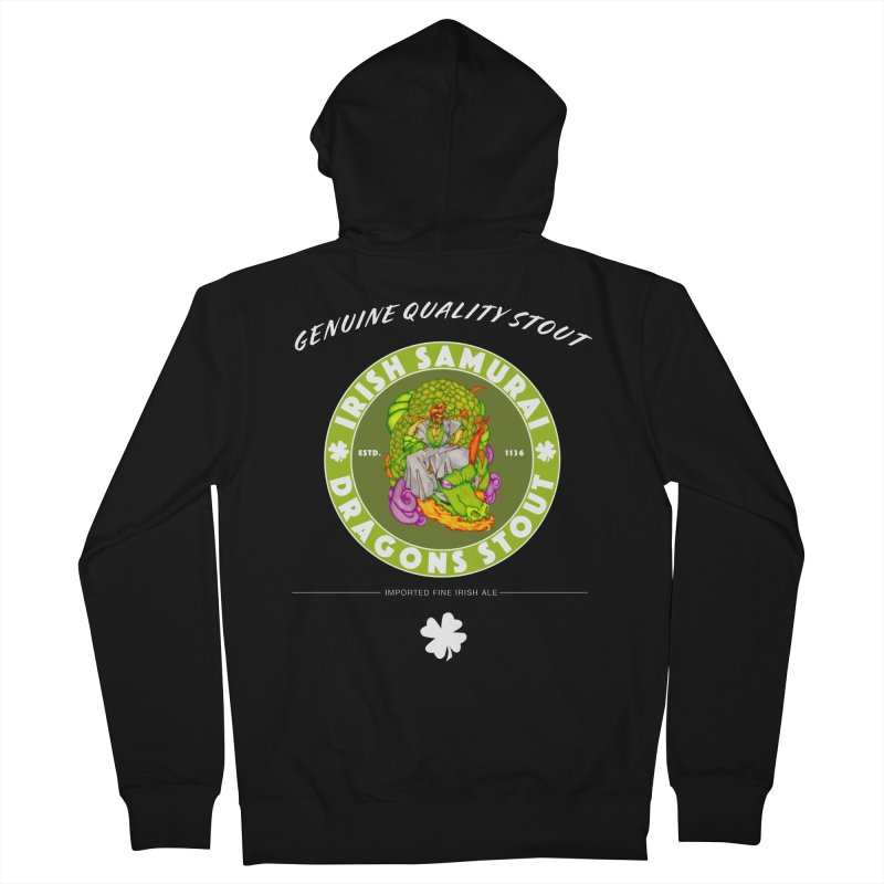 Irish Samurai Men's French Terry Zip-Up Hoody by Norman Wilkerson Designs
