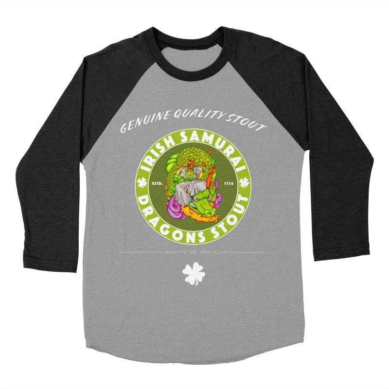 Irish Samurai Women's Baseball Triblend Longsleeve T-Shirt by Norman Wilkerson Designs