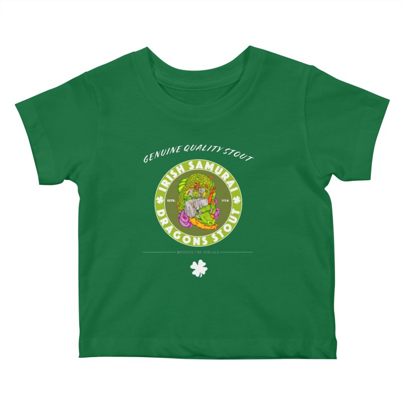 Irish Samurai Kids Baby T-Shirt by Norman Wilkerson Designs