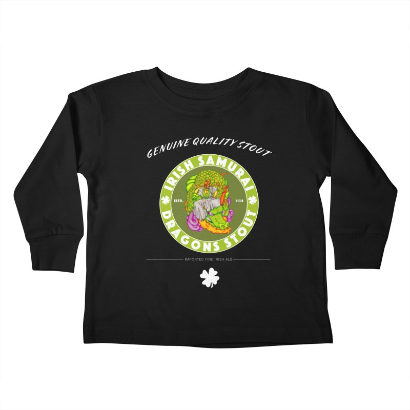 Irish Samurai Kids Toddler Longsleeve T-Shirt by Norman Wilkerson Designs