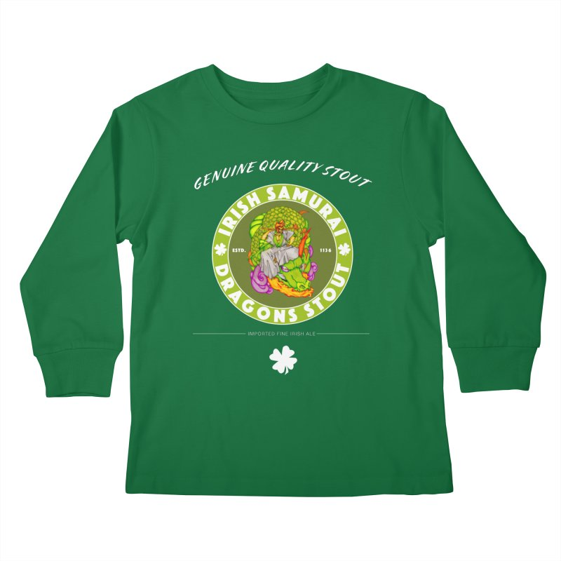 Irish Samurai Kids Longsleeve T-Shirt by Norman Wilkerson Designs
