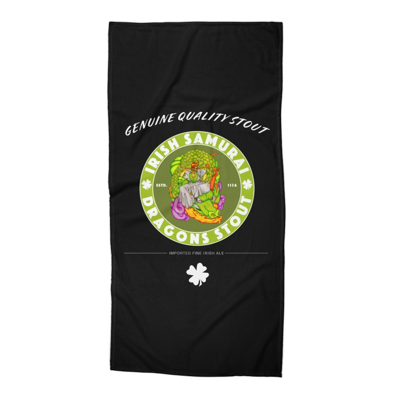 Irish Samurai Accessories Beach Towel by Norman Wilkerson Designs