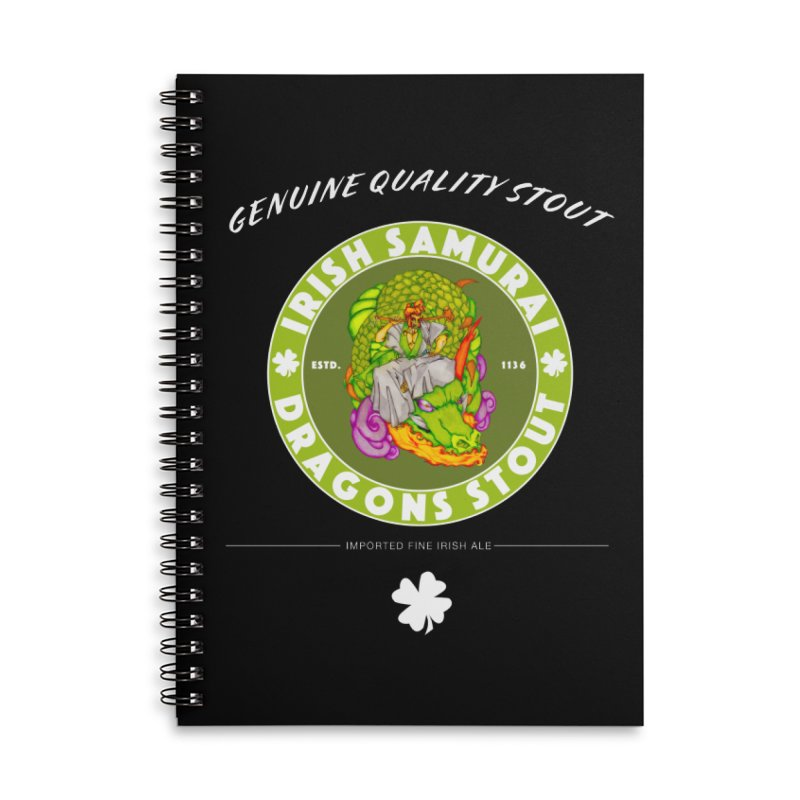 Irish Samurai Accessories Lined Spiral Notebook by Norman Wilkerson Designs