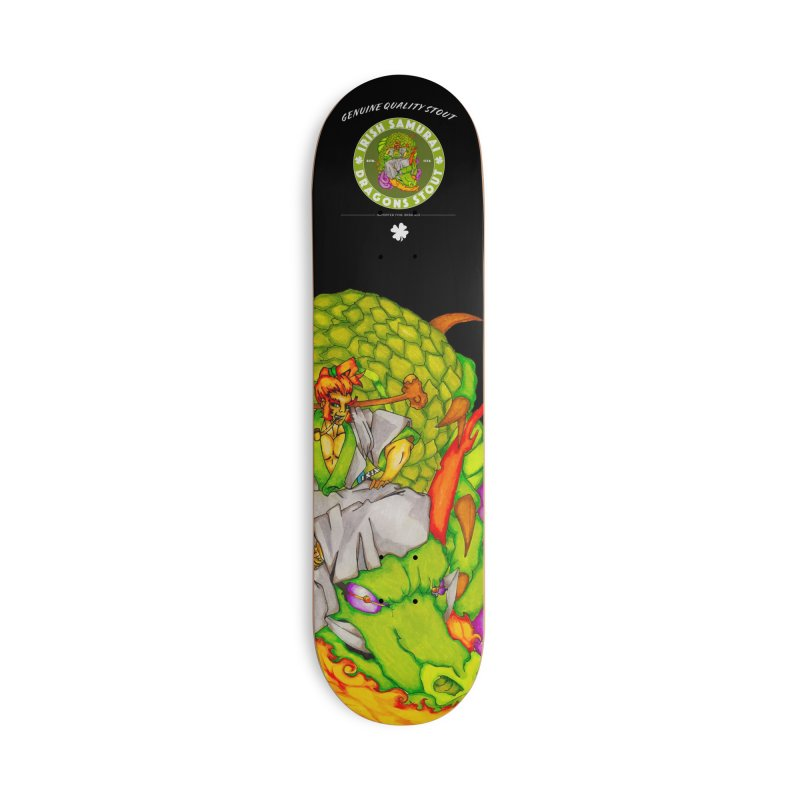 Irish Samurai Accessories Deck Only Skateboard by Norman Wilkerson Designs