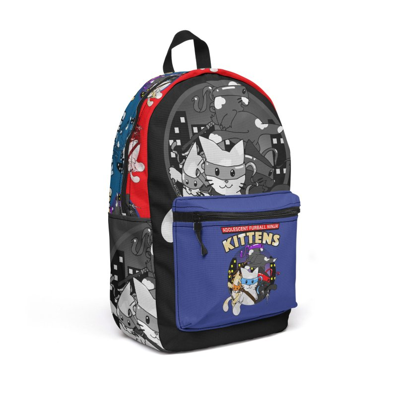 Adolescent Furball Ninja Kittens Accessories Backpack Bag by Norman Wilkerson Designs