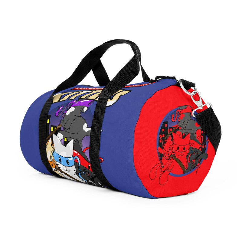 Adolescent Furball Ninja Kittens Accessories Duffel Bag Bag by Norman Wilkerson Designs