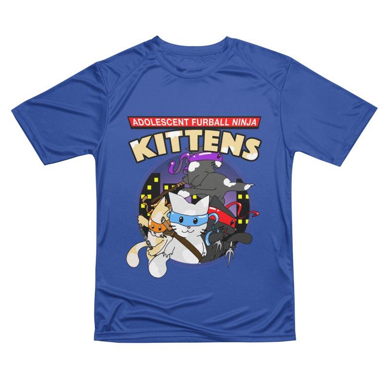 Adolescent Furball Ninja Kittens Men's Performance T-Shirt by Norman Wilkerson Designs