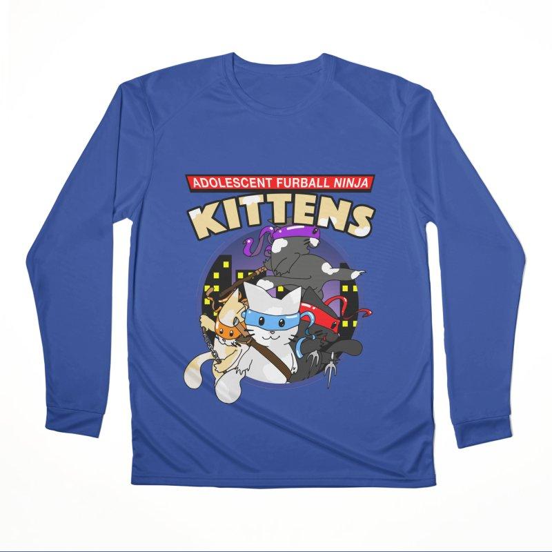 Adolescent Furball Ninja Kittens Women's Performance Unisex Longsleeve T-Shirt by Norman Wilkerson Designs