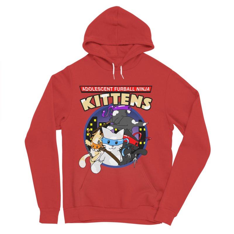 Adolescent Furball Ninja Kittens Men's Pullover Hoody by Norman Wilkerson Designs