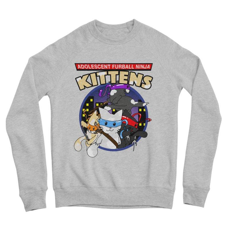 Adolescent Furball Ninja Kittens Men's Sponge Fleece Sweatshirt by Norman Wilkerson Designs