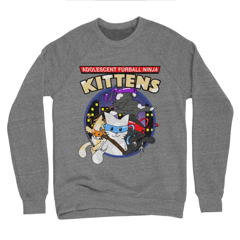 Adolescent Furball Ninja Kittens Women's Sponge Fleece Sweatshirt by Norman Wilkerson Designs