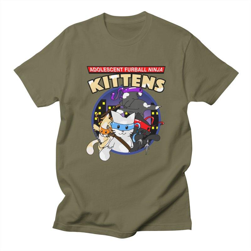 Adolescent Furball Ninja Kittens Women's Regular Unisex T-Shirt by Norman Wilkerson Designs
