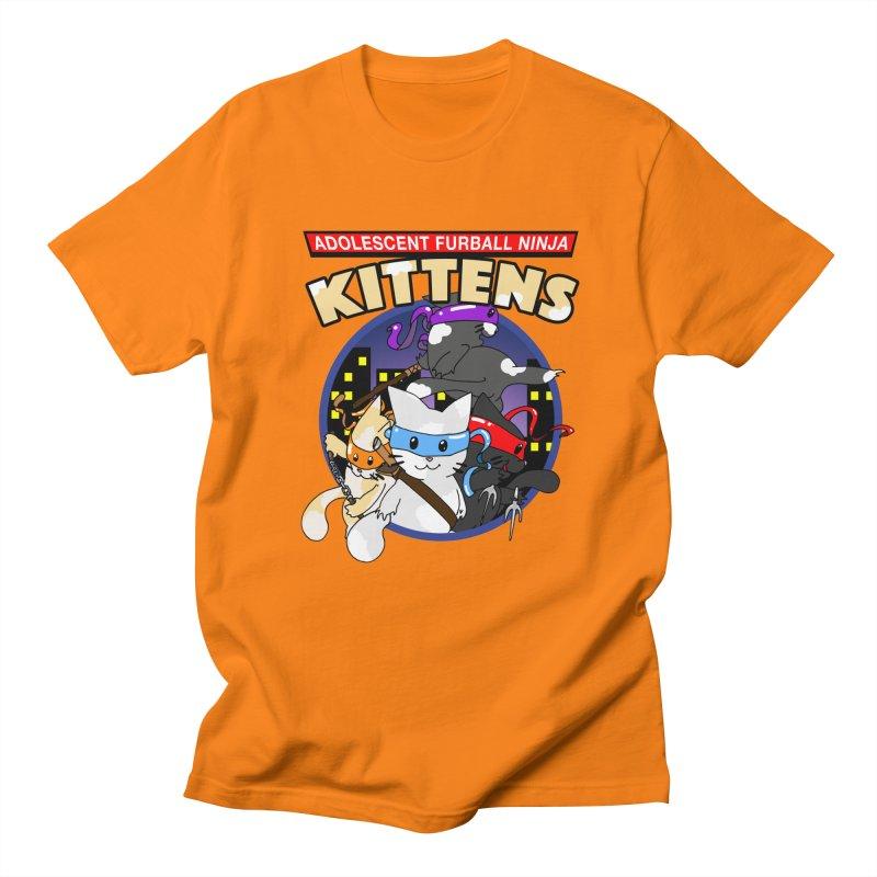 Adolescent Furball Ninja Kittens Men's T-Shirt by Norman Wilkerson Designs