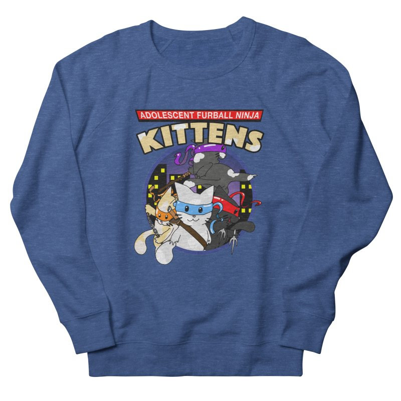 Adolescent Furball Ninja Kittens Men's Sweatshirt by Norman Wilkerson Designs