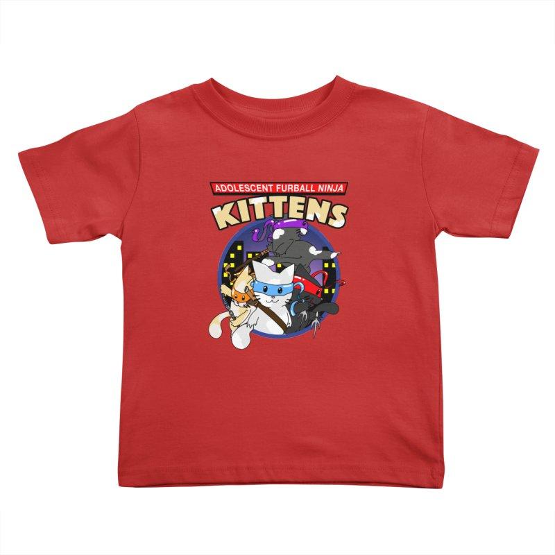 Adolescent Furball Ninja Kittens Kids Toddler T-Shirt by Norman Wilkerson Designs