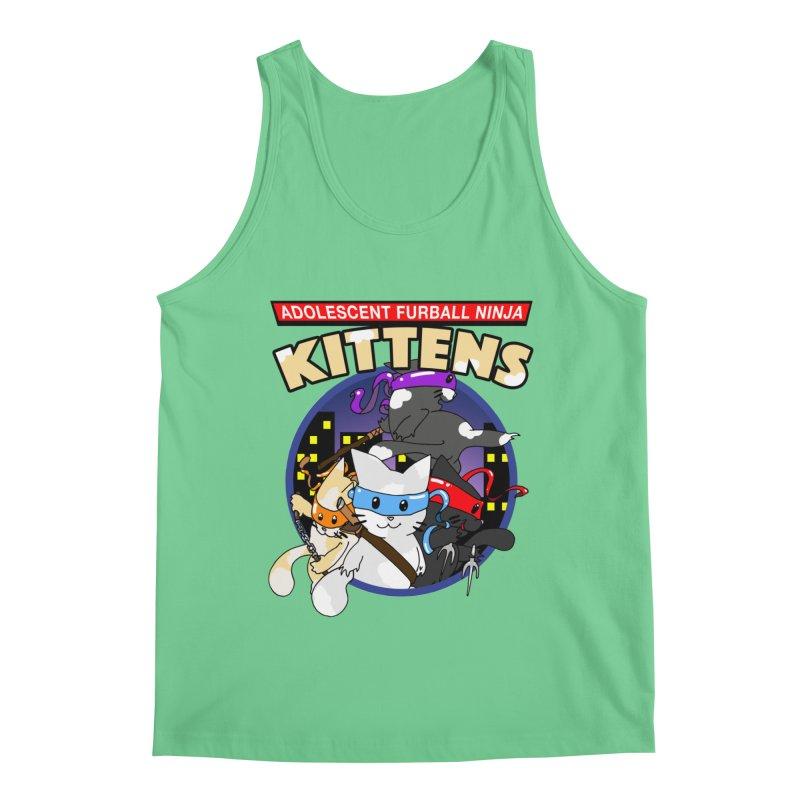 Adolescent Furball Ninja Kittens Men's Regular Tank by Norman Wilkerson Designs