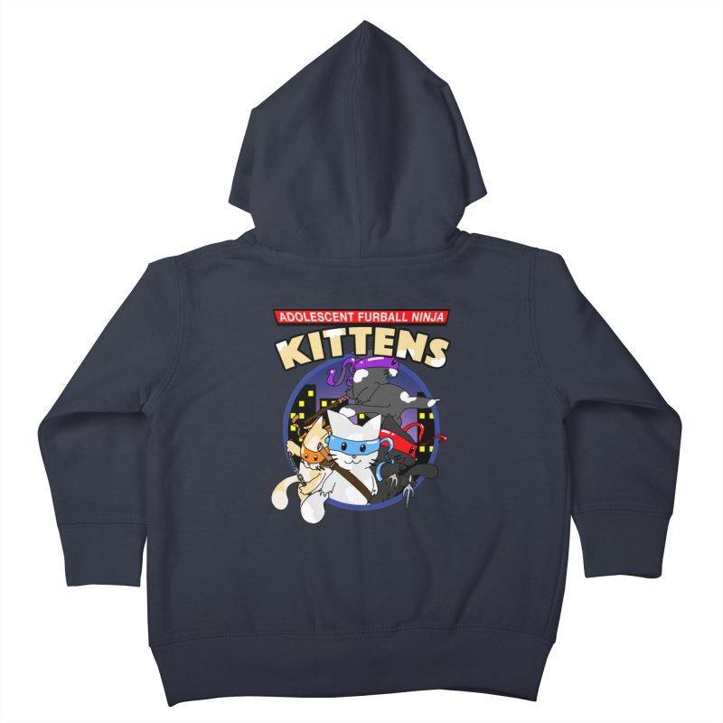 Adolescent Furball Ninja Kittens Kids Toddler Zip-Up Hoody by Norman Wilkerson Designs
