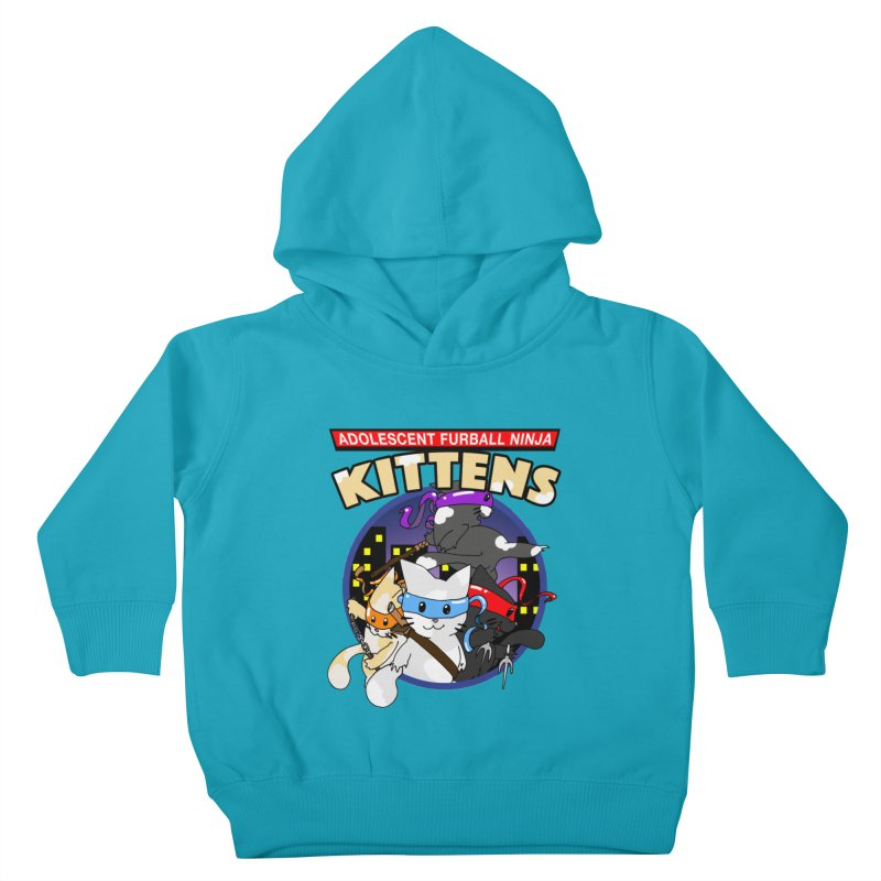 Adolescent Furball Ninja Kittens Kids Toddler Pullover Hoody by Norman Wilkerson Designs