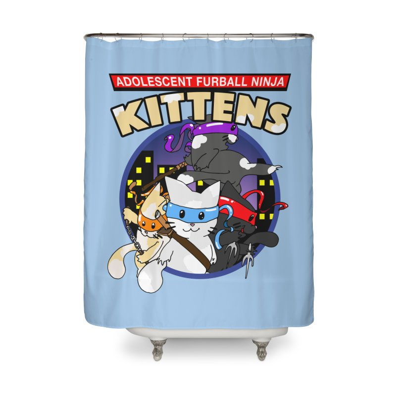 Adolescent Furball Ninja Kittens Home Shower Curtain by Norman Wilkerson Designs